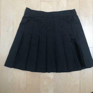 American apparel black cheerleading pleated skirt